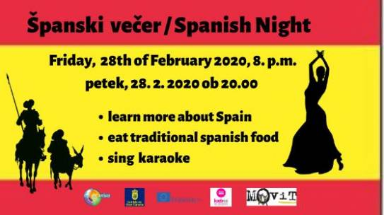 28/2/2020 ŠPANSKI VEČER / SPANISH NIGHT